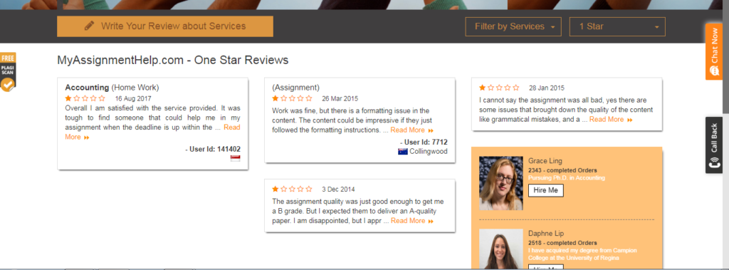 MyAssignmenthelp user review