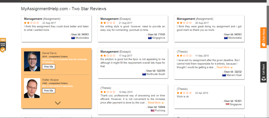 MyAssignmenthelp user reviews